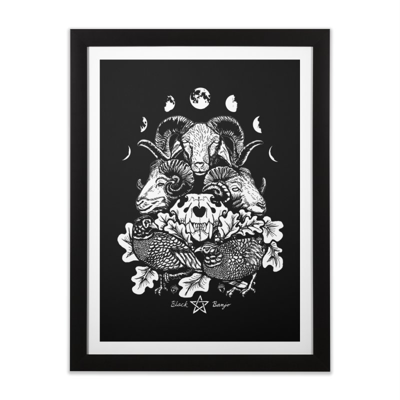 The Ram and The Oak Home Framed Fine Art Print by Black Banjo Arts