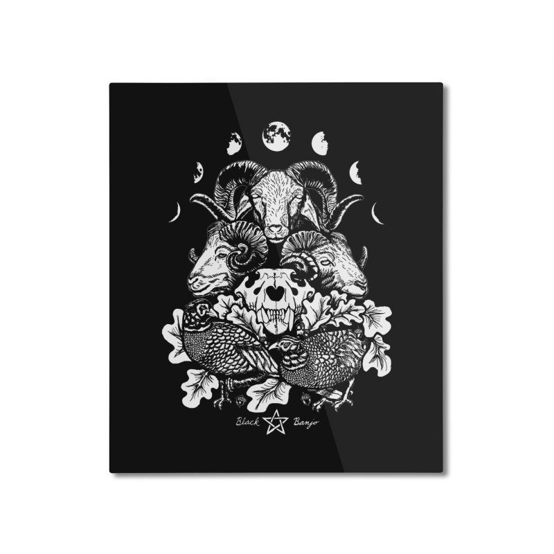 The Ram and The Oak Home Mounted Aluminum Print by Black Banjo Arts