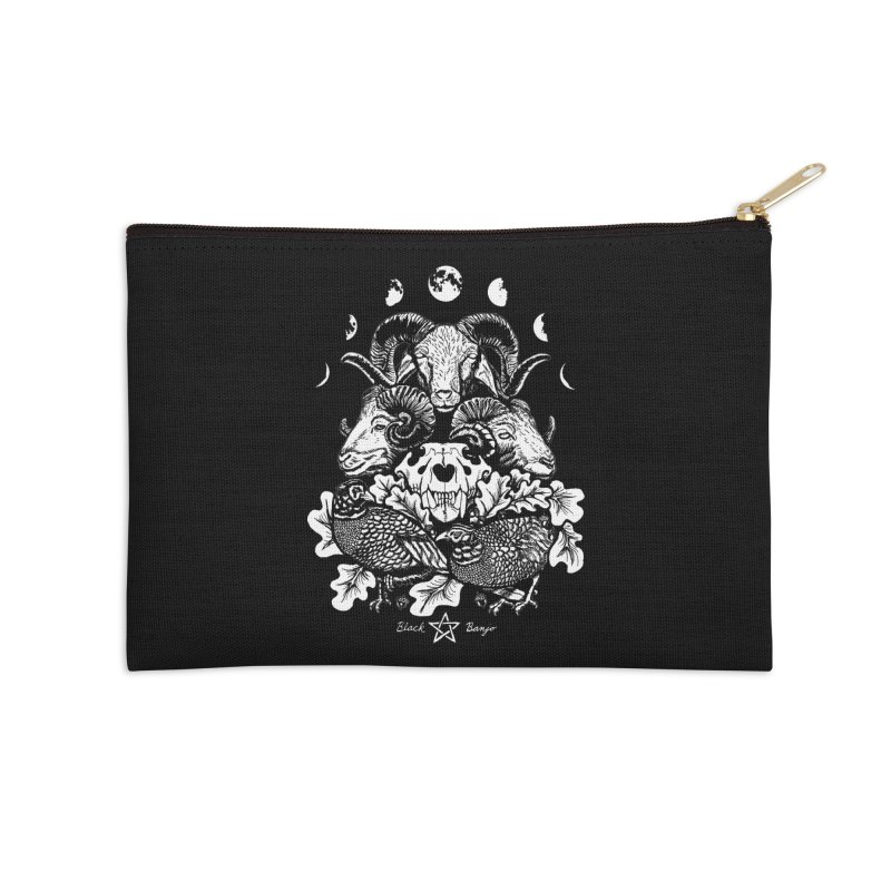 The Ram and The Oak Accessories Zip Pouch by Black Banjo Arts