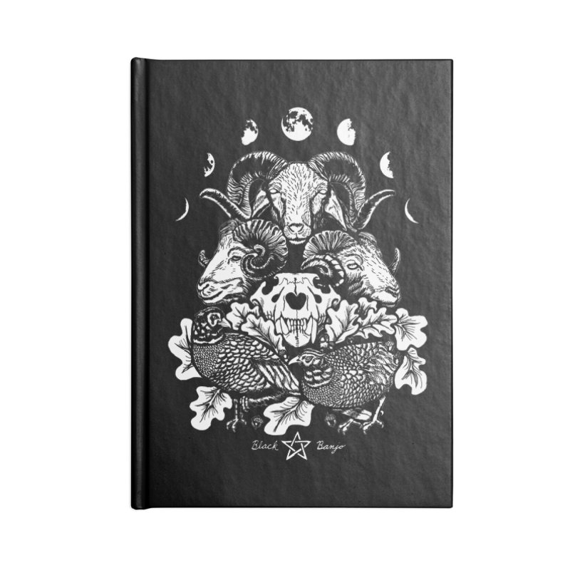 The Ram and The Oak Accessories Lined Journal Notebook by Black Banjo Arts