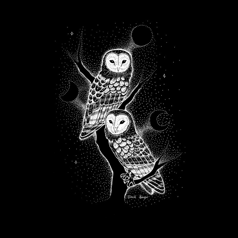 The Witch Owls Men's T-Shirt by Black Banjo Arts