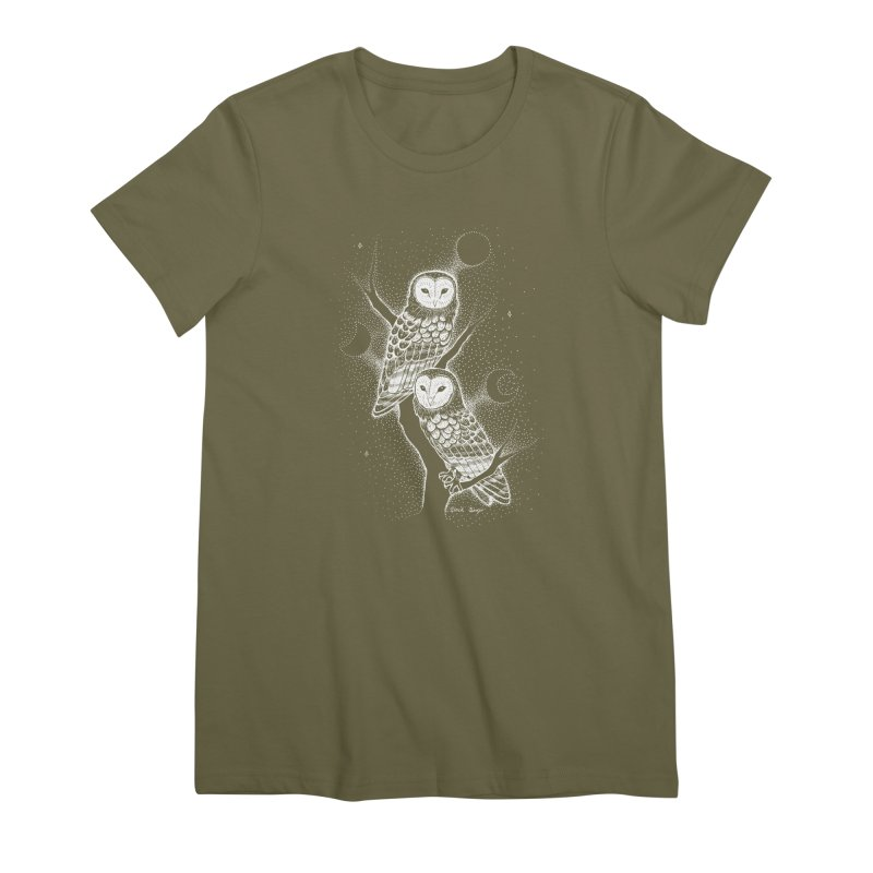 The Witch Owls Women's Premium T-Shirt by Black Banjo Arts