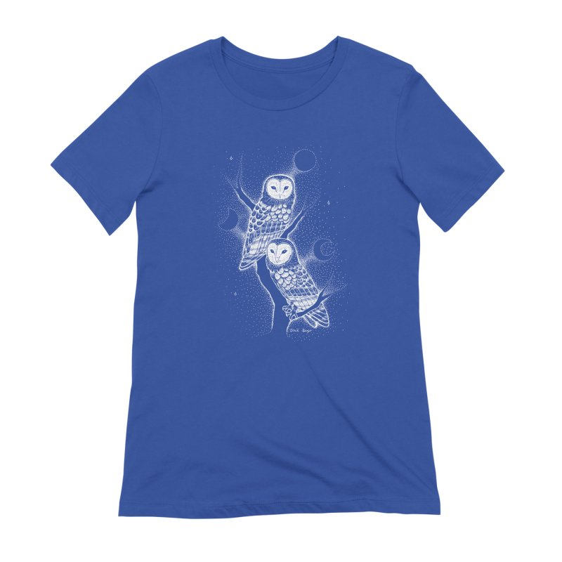 The Witch Owls Women's Extra Soft T-Shirt by Black Banjo Arts