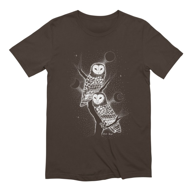 The Witch Owls Men's Extra Soft T-Shirt by Black Banjo Arts