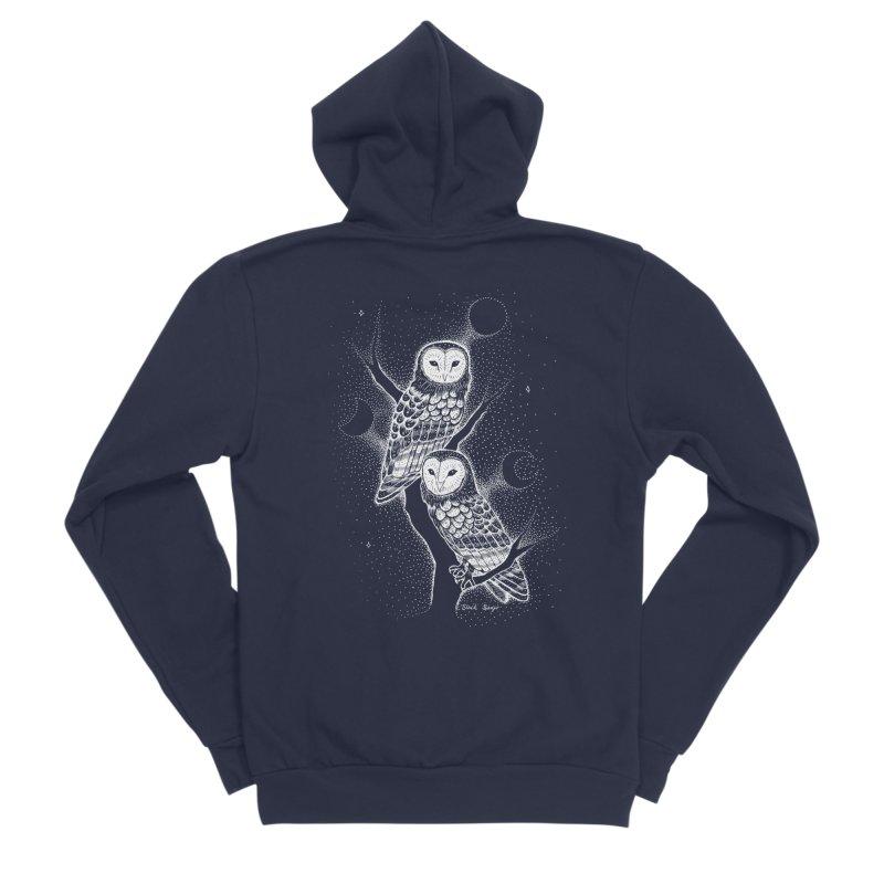 The Witch Owls Men's Sponge Fleece Zip-Up Hoody by Black Banjo Arts