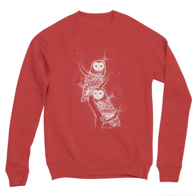 The Witch Owls Men's Sponge Fleece Sweatshirt by Black Banjo Arts