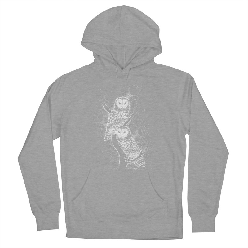 The Witch Owls Men's French Terry Pullover Hoody by Black Banjo Arts