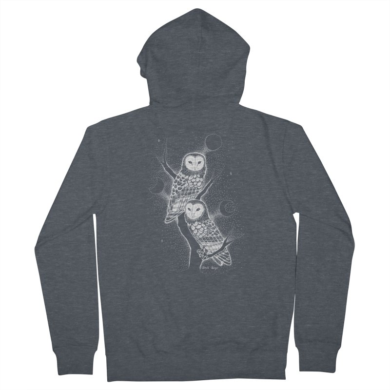 The Witch Owls Women's French Terry Zip-Up Hoody by Black Banjo Arts