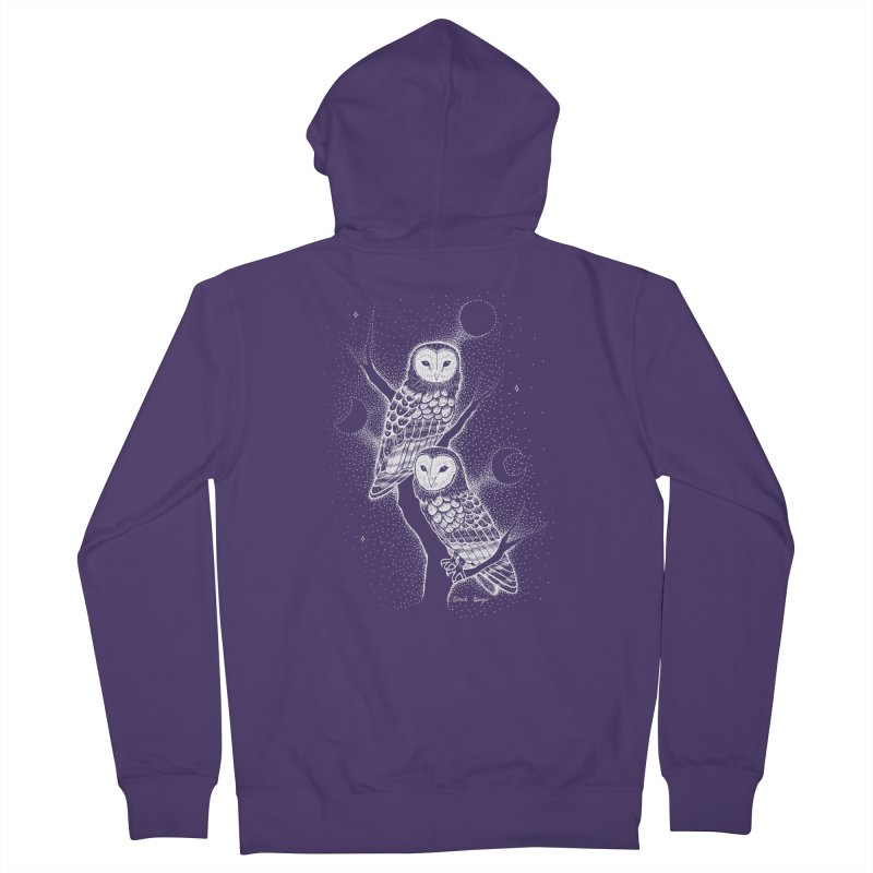 The Witch Owls Women's Zip-Up Hoody by Black Banjo Arts