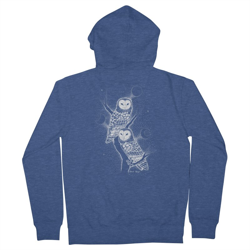 The Witch Owls Men's Zip-Up Hoody by Black Banjo Arts