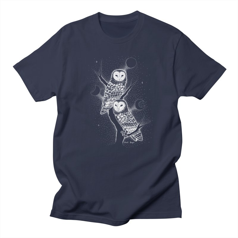 The Witch Owls Men's Regular T-Shirt by Black Banjo Arts