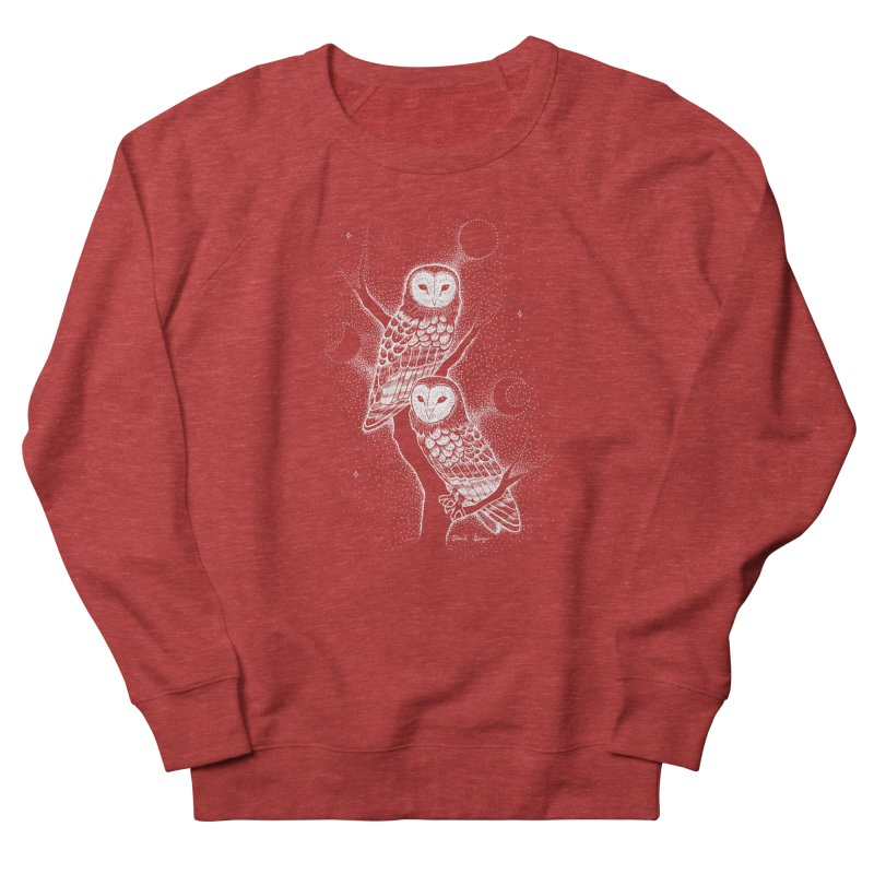 The Witch Owls Men's French Terry Sweatshirt by Black Banjo Arts