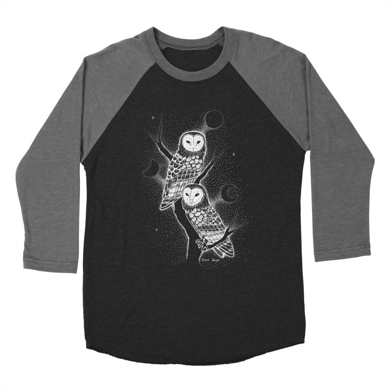 The Witch Owls Men's Baseball Triblend Longsleeve T-Shirt by Black Banjo Arts