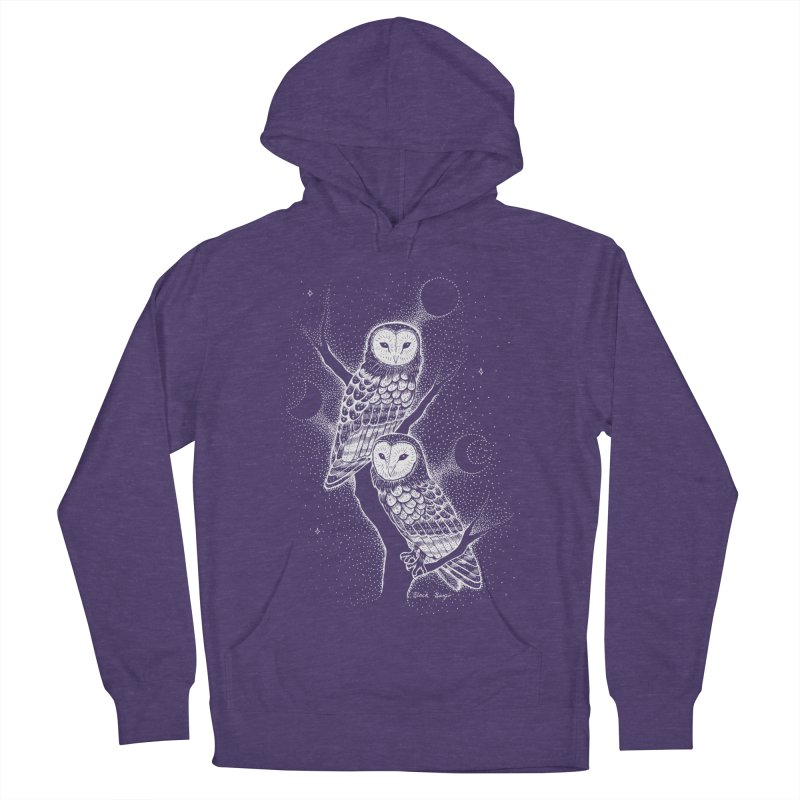 The Witch Owls Women's French Terry Pullover Hoody by Black Banjo Arts