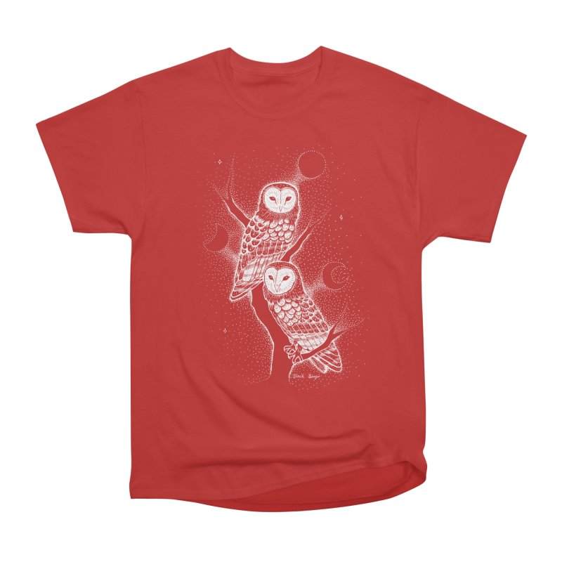 The Witch Owls Women's Heavyweight Unisex T-Shirt by Black Banjo Arts