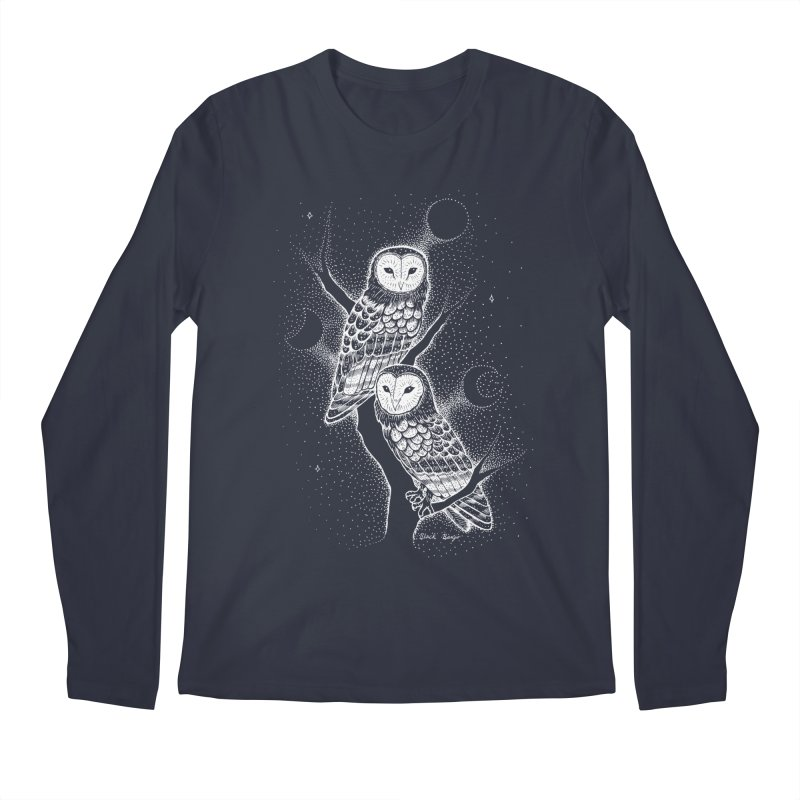 The Witch Owls Men's Regular Longsleeve T-Shirt by Black Banjo Arts