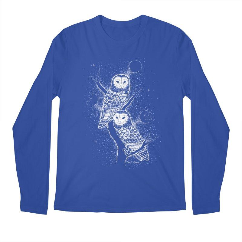 The Witch Owls Men's Regular Longsleeve T-Shirt by Black Banjo Arts