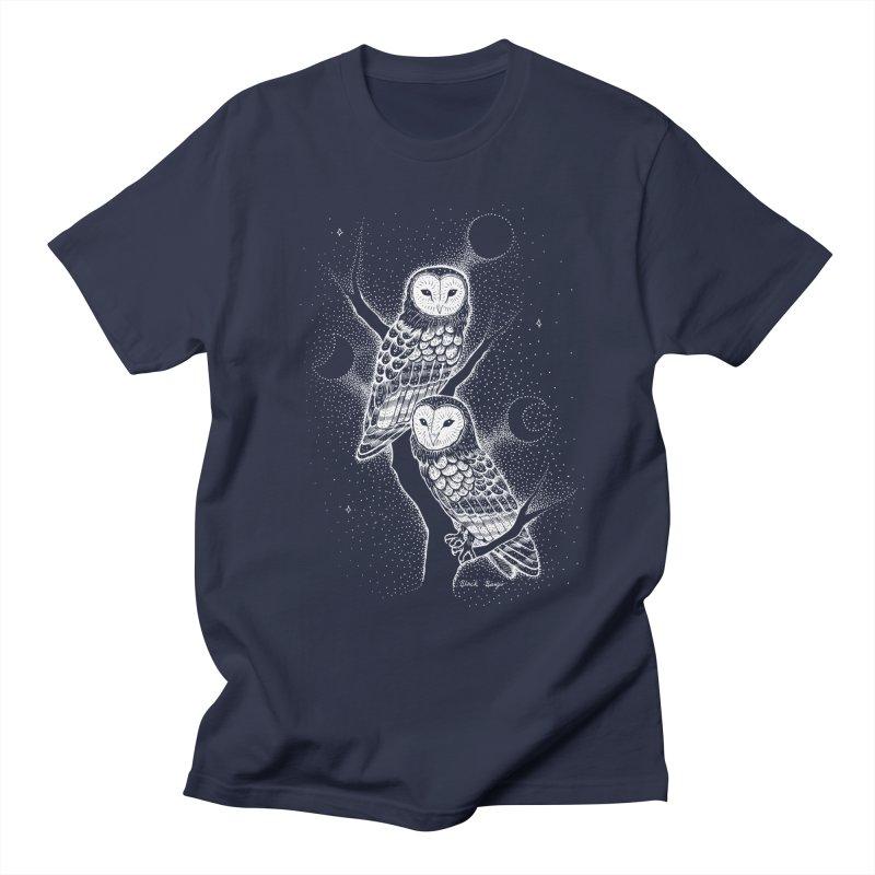 The Witch Owls Men's Regular T-Shirt by Black Banjo Arts