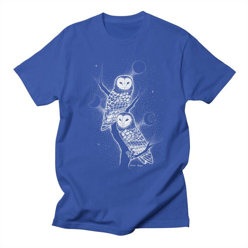The Witch Owls Women's Regular Unisex T-Shirt by Black Banjo Arts