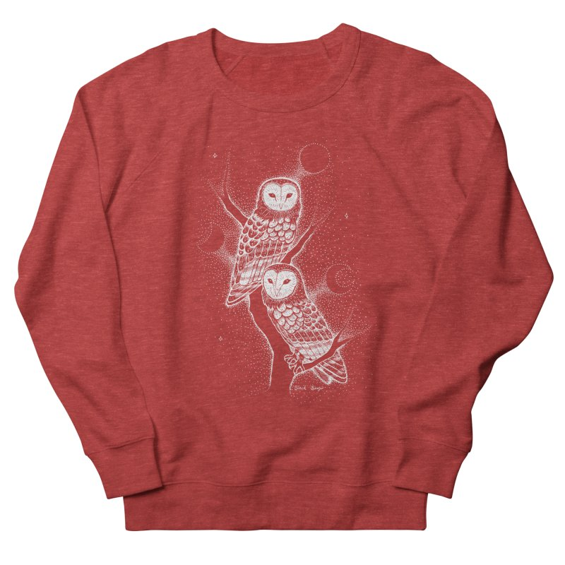 The Witch Owls Women's French Terry Sweatshirt by Black Banjo Arts