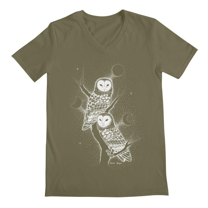 The Witch Owls Men's Regular V-Neck by Black Banjo Arts