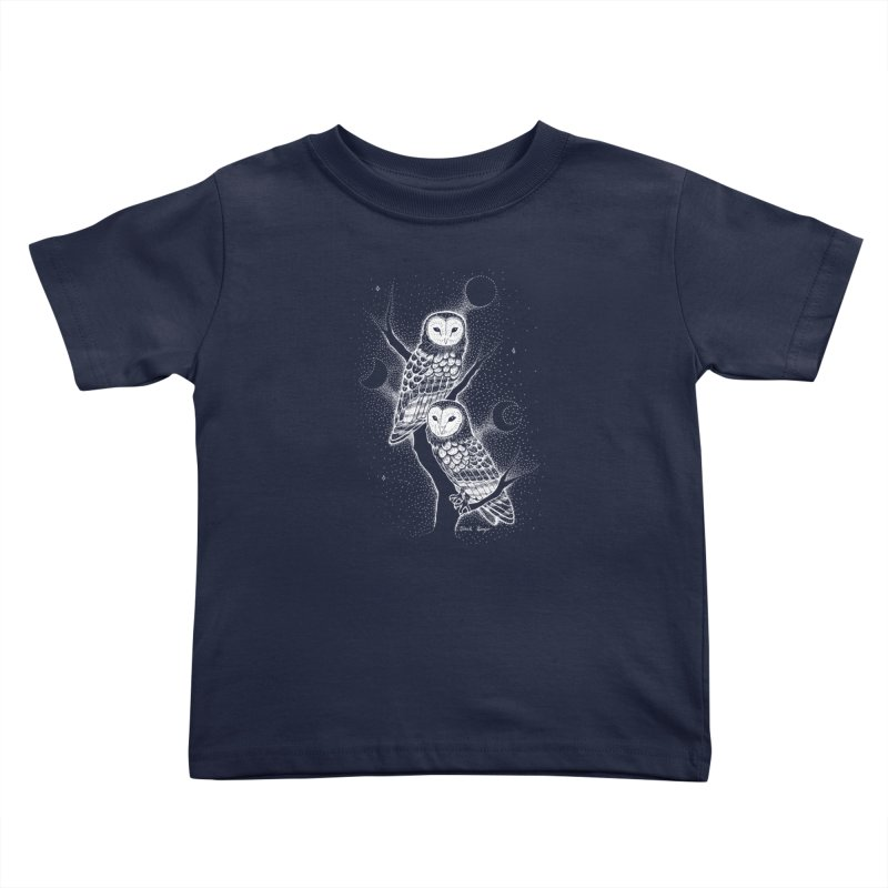 The Witch Owls Kids Toddler T-Shirt by Black Banjo Arts
