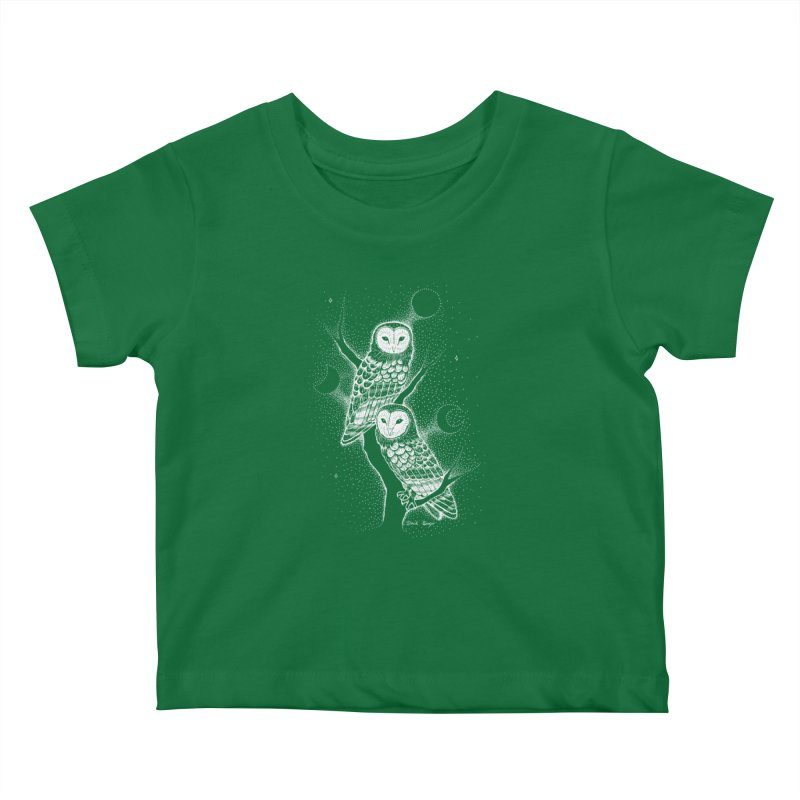 The Witch Owls Kids Baby T-Shirt by Black Banjo Arts