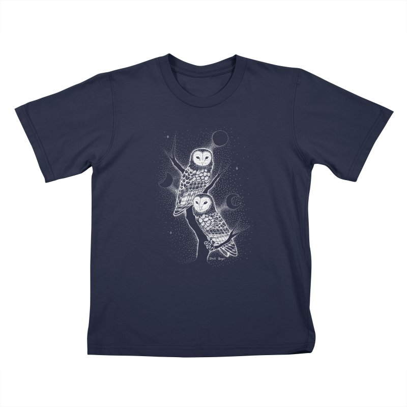 The Witch Owls Kids T-Shirt by Black Banjo Arts