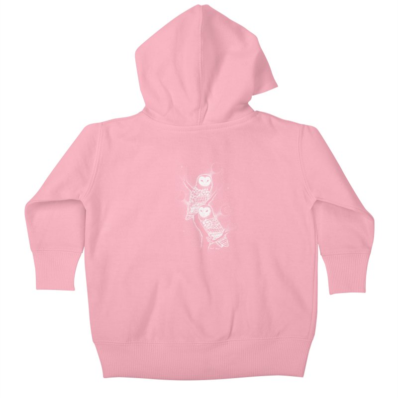 The Witch Owls Kids Baby Zip-Up Hoody by Black Banjo Arts