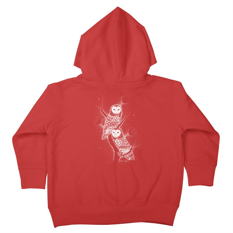 The Witch Owls Kids Toddler Zip-Up Hoody by Black Banjo Arts