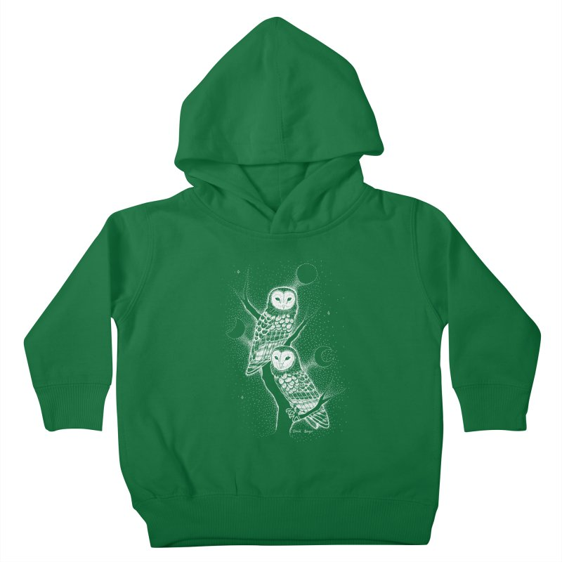 The Witch Owls Kids Toddler Pullover Hoody by Black Banjo Arts