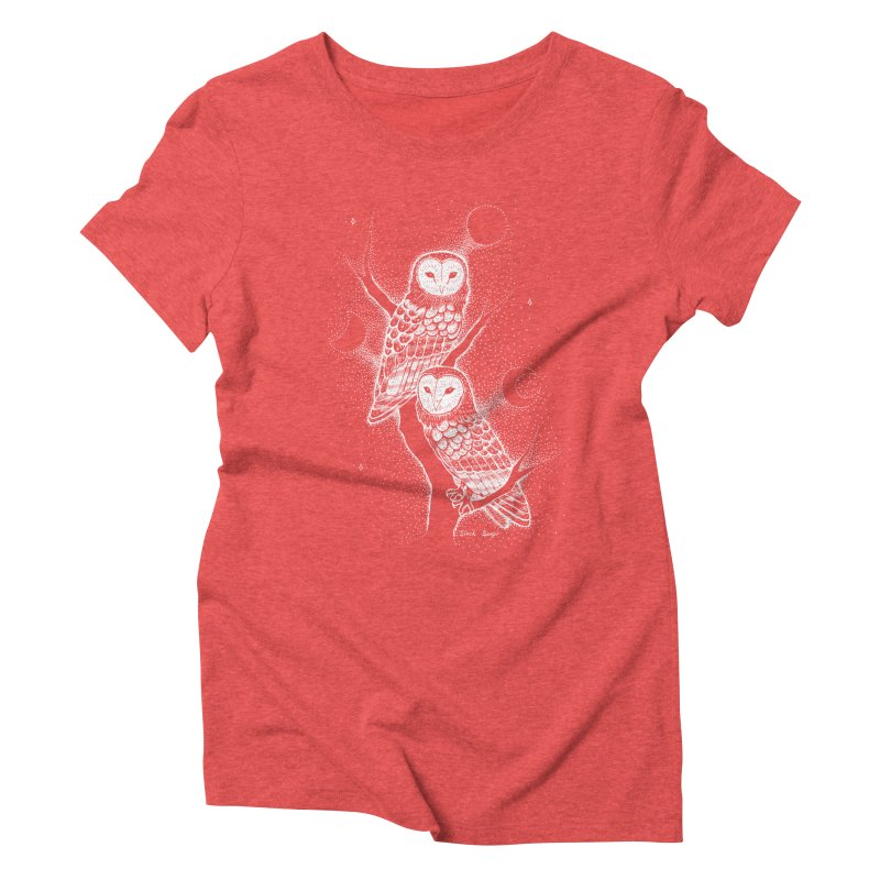 The Witch Owls Women's Triblend T-Shirt by Black Banjo Arts