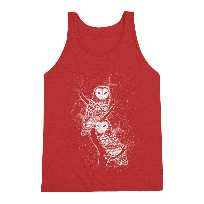 The Witch Owls Men's Triblend Tank by Black Banjo Arts