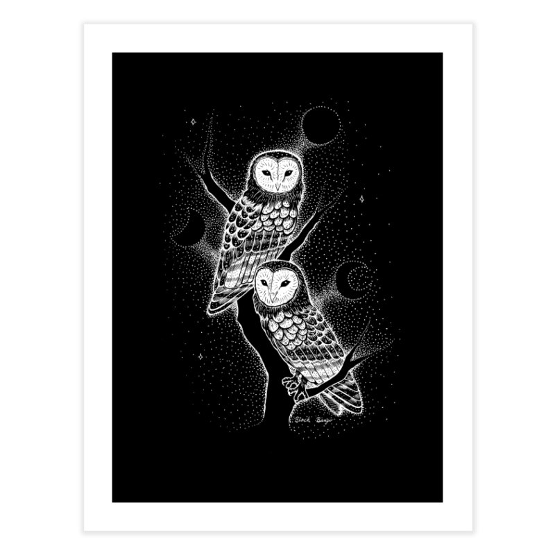 The Witch Owls Home Fine Art Print by Black Banjo Arts