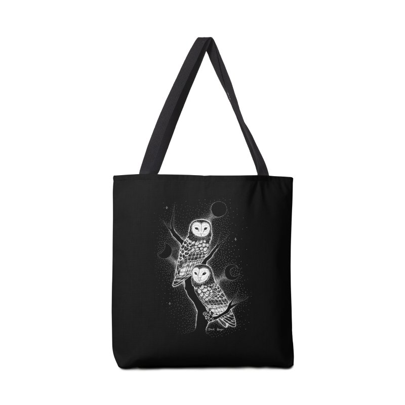 The Witch Owls Accessories Tote Bag Bag by Black Banjo Arts