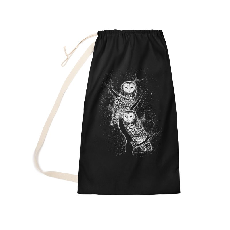 The Witch Owls Accessories Laundry Bag Bag by Black Banjo Arts