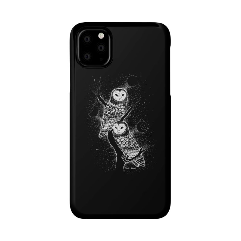 The Witch Owls Accessories Phone Case by Black Banjo Arts