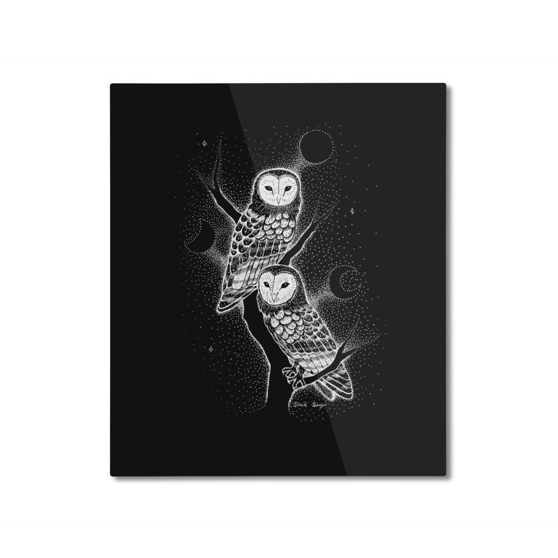 The Witch Owls Home Mounted Aluminum Print by Black Banjo Arts