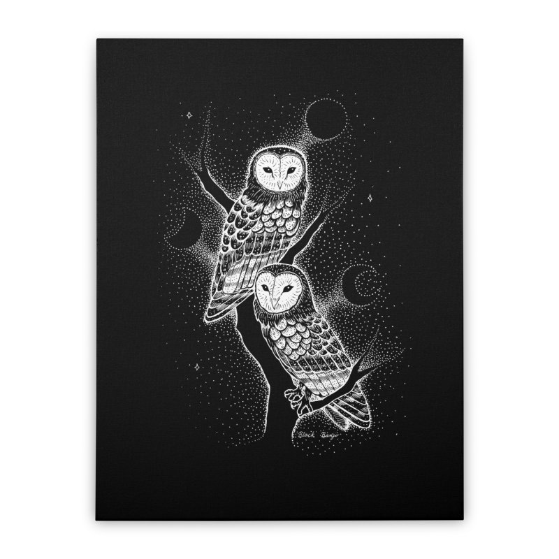 The Witch Owls Home Stretched Canvas by Black Banjo Arts