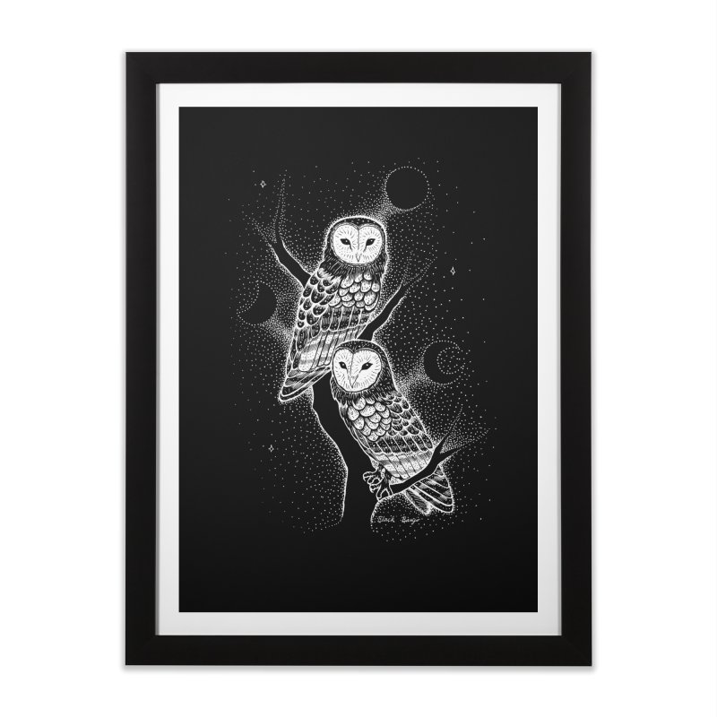 The Witch Owls Home Framed Fine Art Print by Black Banjo Arts