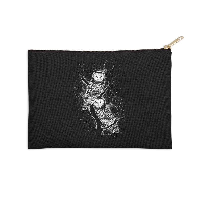 The Witch Owls Accessories Zip Pouch by Black Banjo Arts