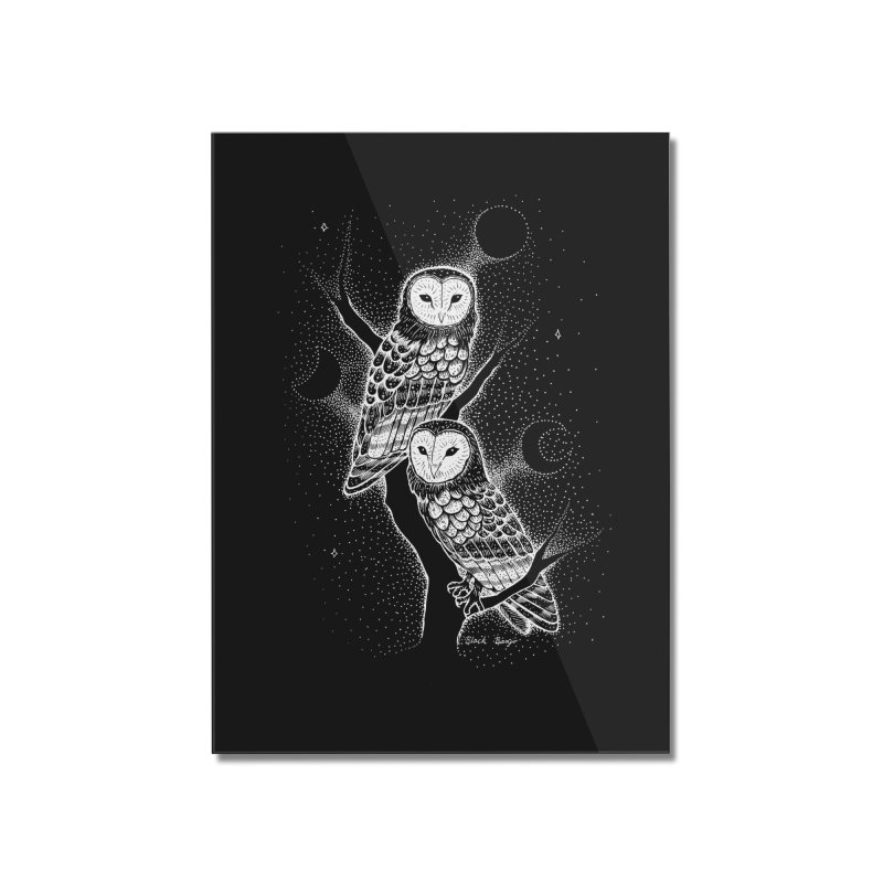 The Witch Owls Home Mounted Acrylic Print by Black Banjo Arts