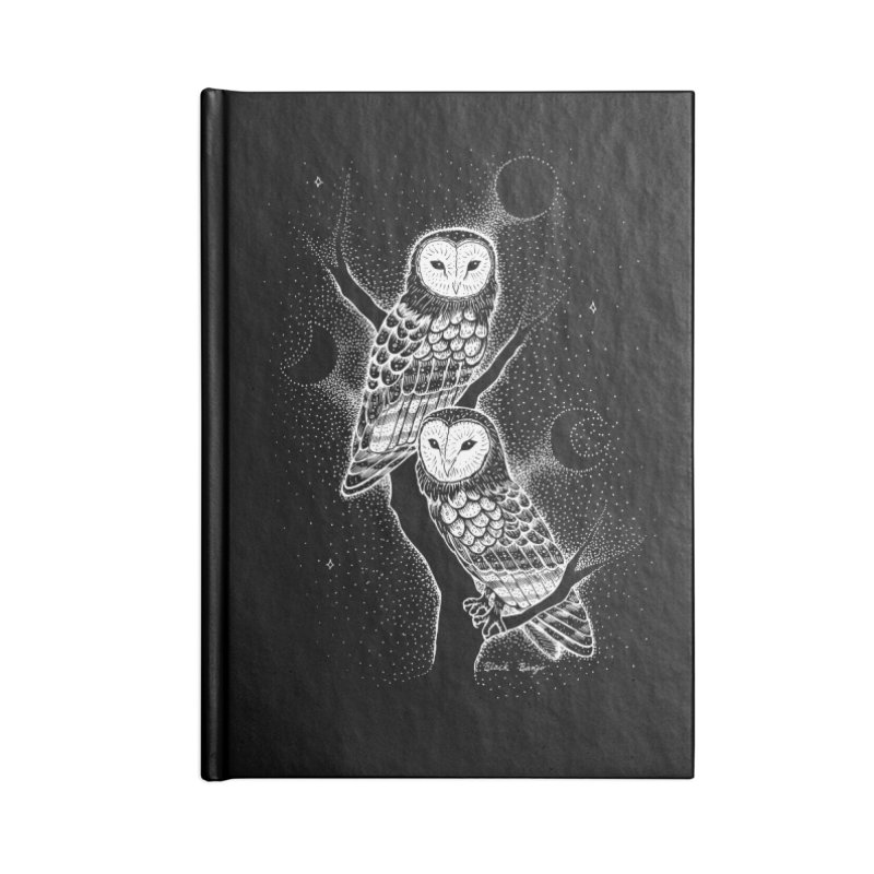 The Witch Owls Accessories Lined Journal Notebook by Black Banjo Arts
