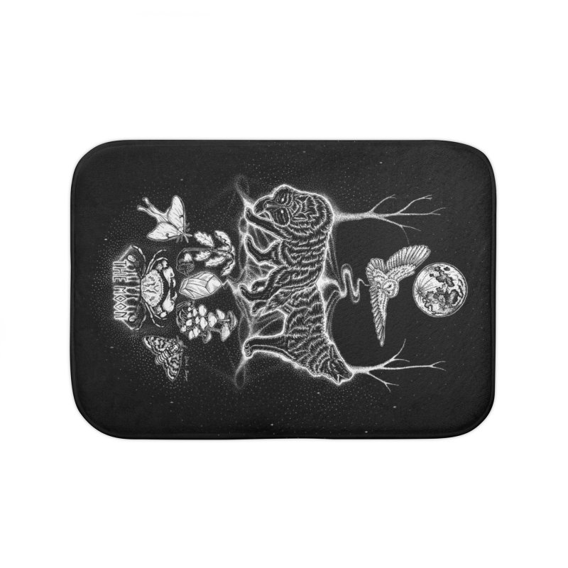 The Moon XVIII Home Bath Mat by Black Banjo Arts