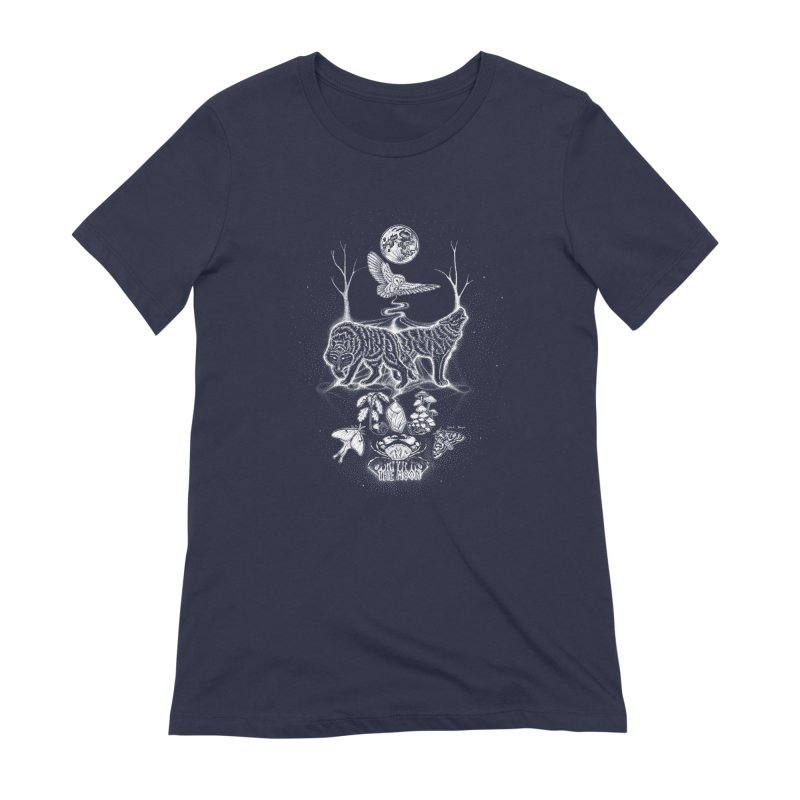 The Moon XVIII Women's Extra Soft T-Shirt by Black Banjo Arts