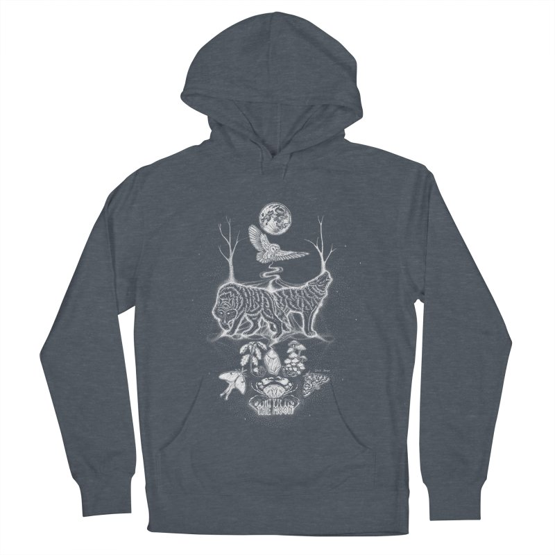 The Moon XVIII Men's French Terry Pullover Hoody by Black Banjo Arts