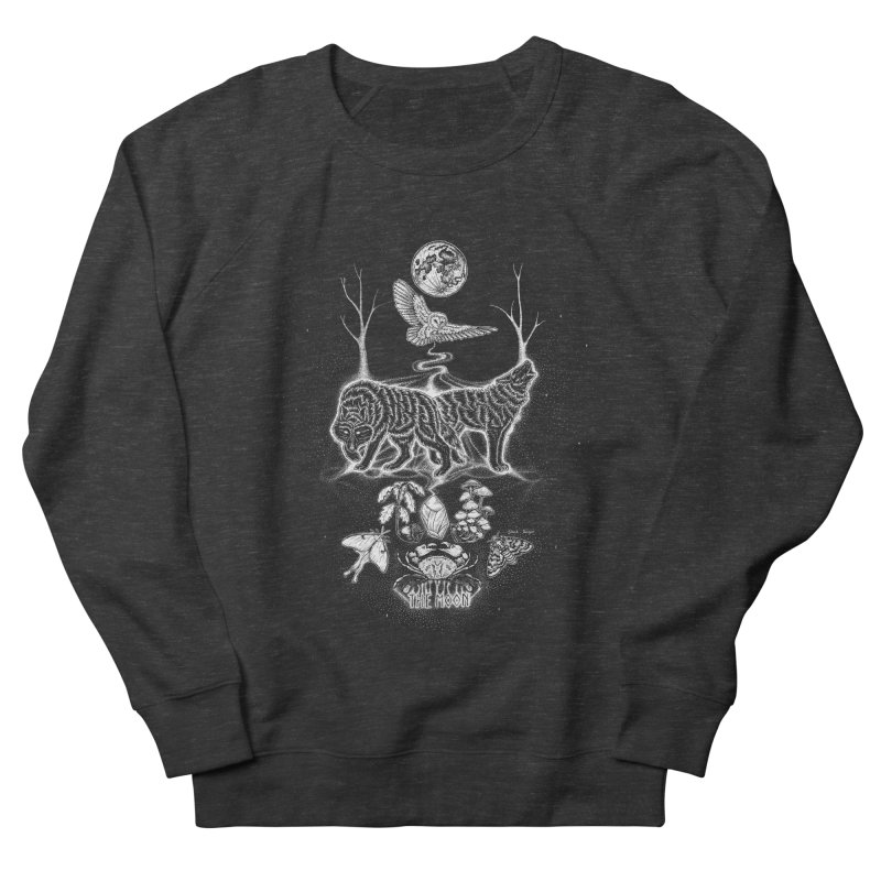 The Moon XVIII Women's French Terry Sweatshirt by Black Banjo Arts