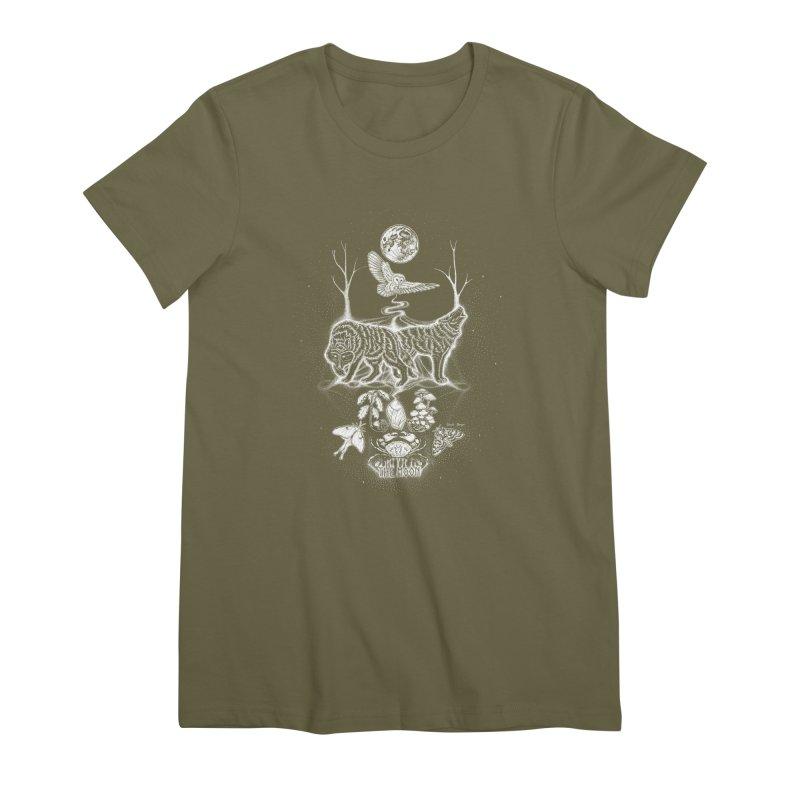 The Moon XVIII Women's Premium T-Shirt by Black Banjo Arts