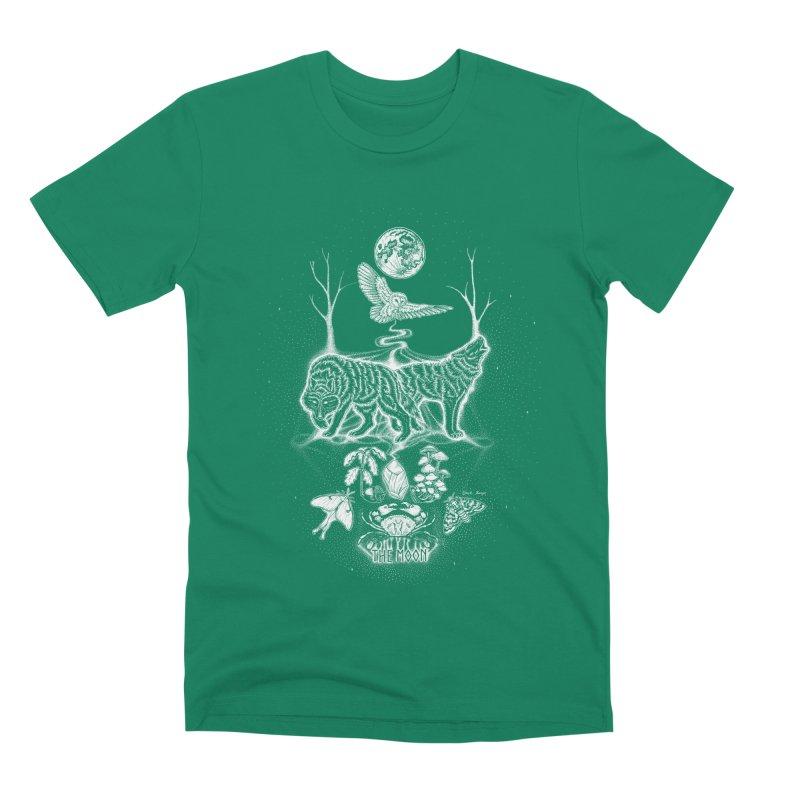 The Moon XVIII Men's Premium T-Shirt by Black Banjo Arts