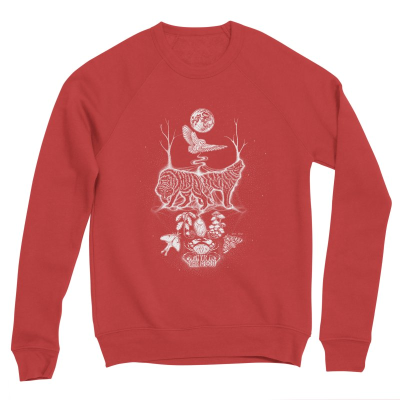 The Moon XVIII Women's Sponge Fleece Sweatshirt by Black Banjo Arts
